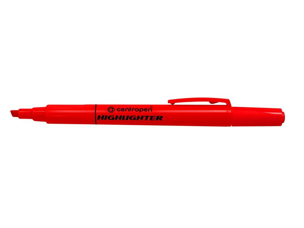 Zvýrazňovač Centropen 8722 HIGHLIGHTER - červená