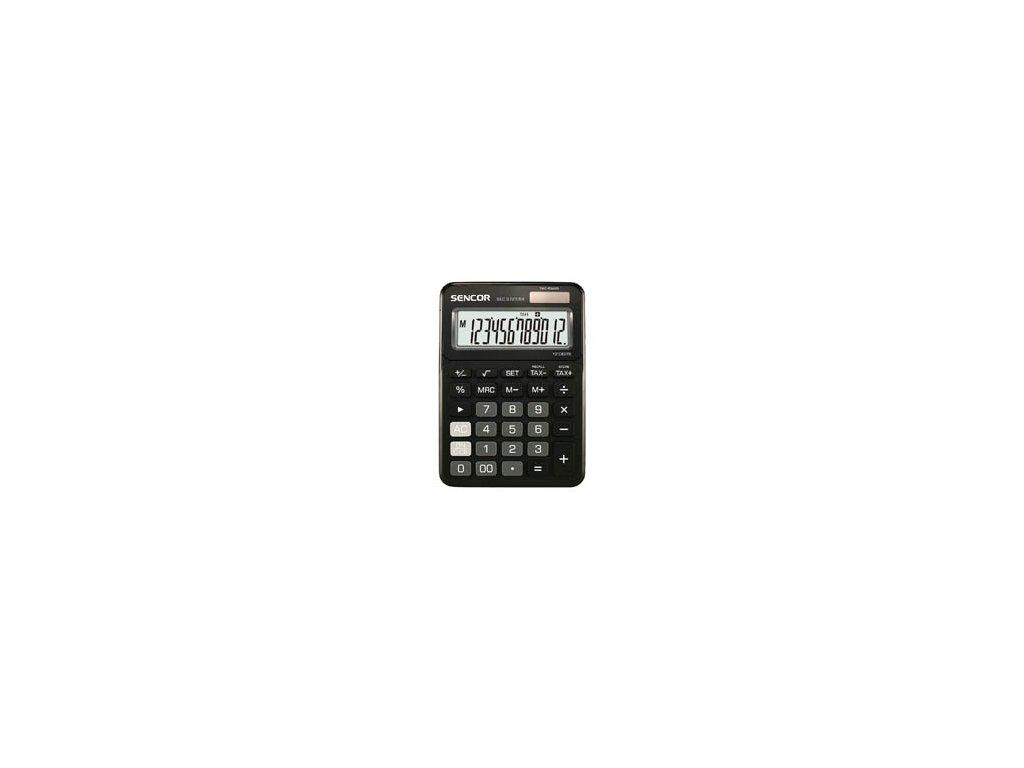 Kalkulačka Sencor SEC 372T - displej 12 míst / černá
