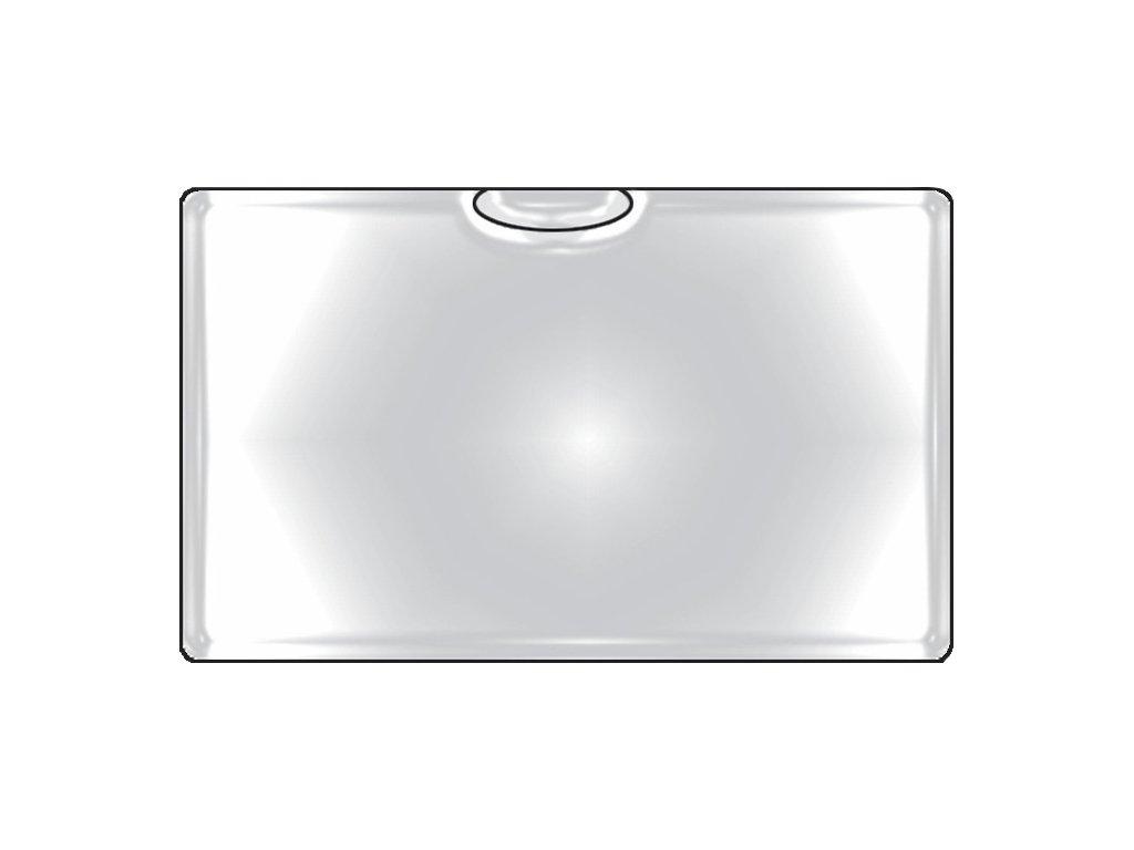 Samolepicí kapsy na vizitky - horní vkládání / 6 ks
