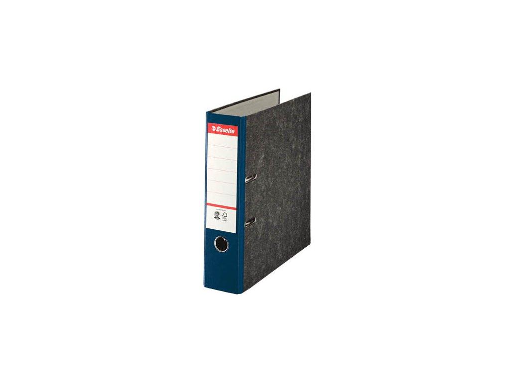 Pořadač A4 pákový papírový s barevným hřbetem - hřbet 7,5 cm / modrá