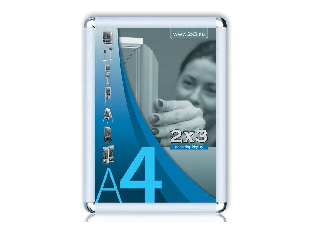 Rám na reklamu - rám na reklamu A4 kulaté rohy