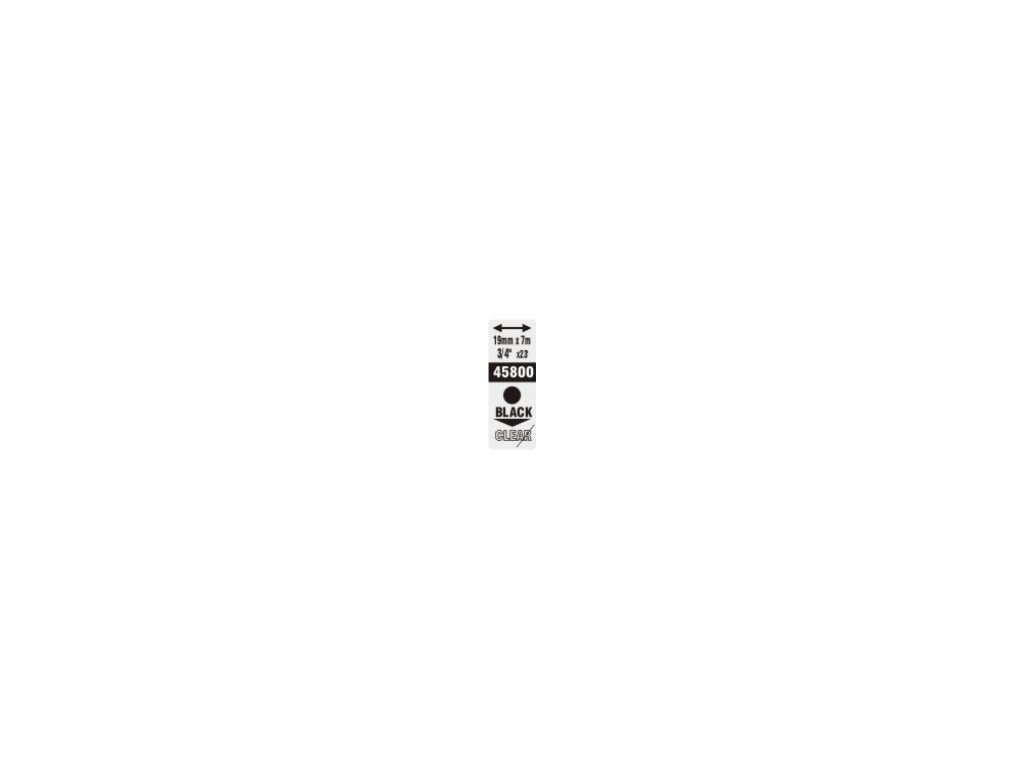 Pásky D1 standardní - 19 mm x 7 m / černý tisk / čirá páska