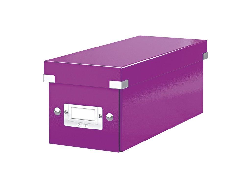 Krabice Leitz Click & Store - na CD / fialová