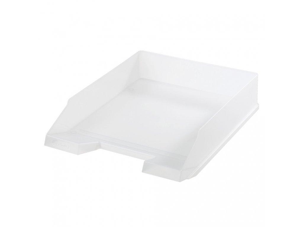 Kancelářský box na spisy Heritz - bílá / transparentní