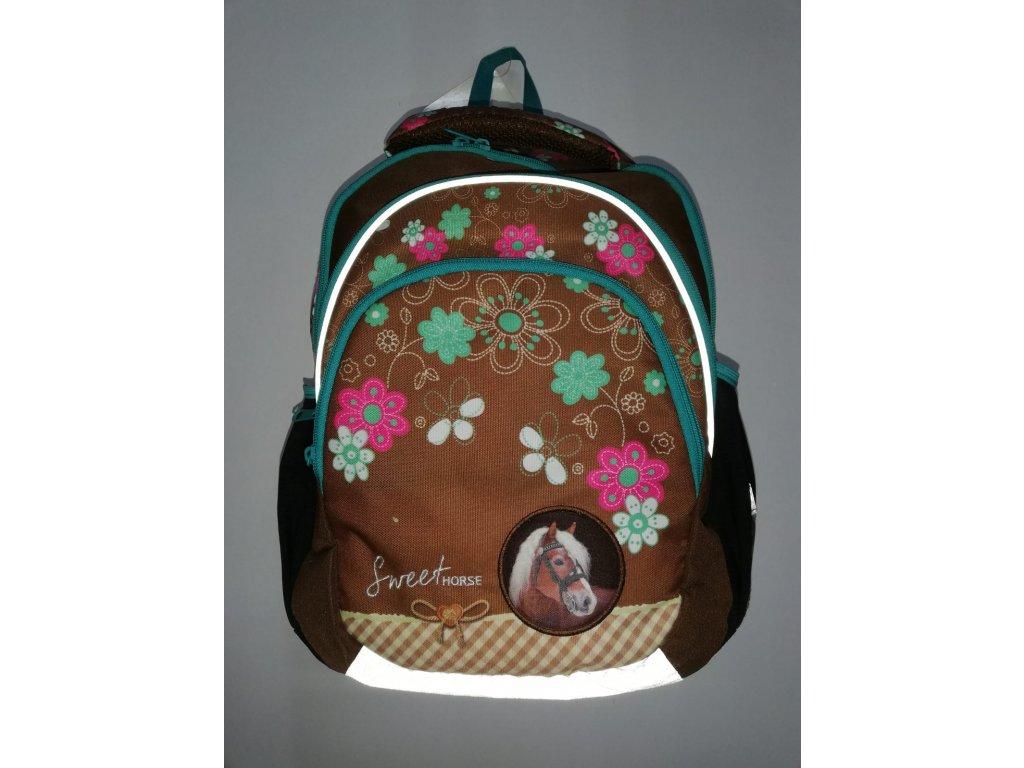 Školní batoh hnědý Sweet horse