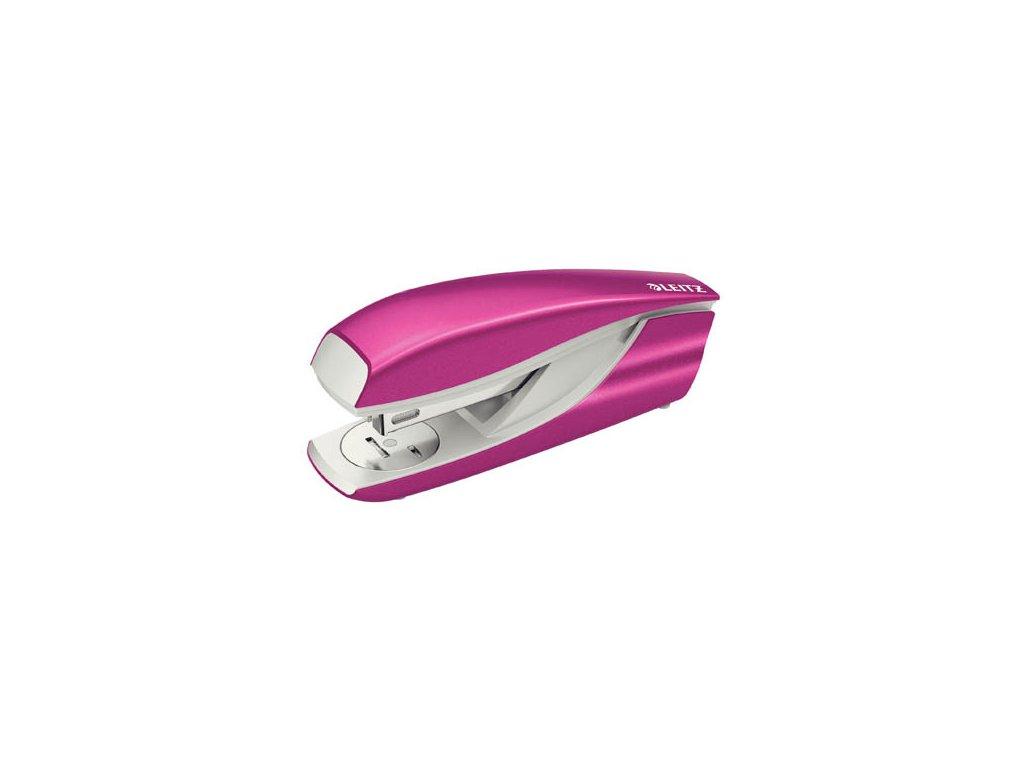 Kancelářský sešívač Leitz 5502 - metalická růžová