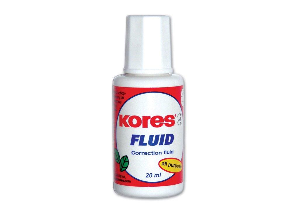 Opravné laky Kores Fluid - 20 ml – štěteček
