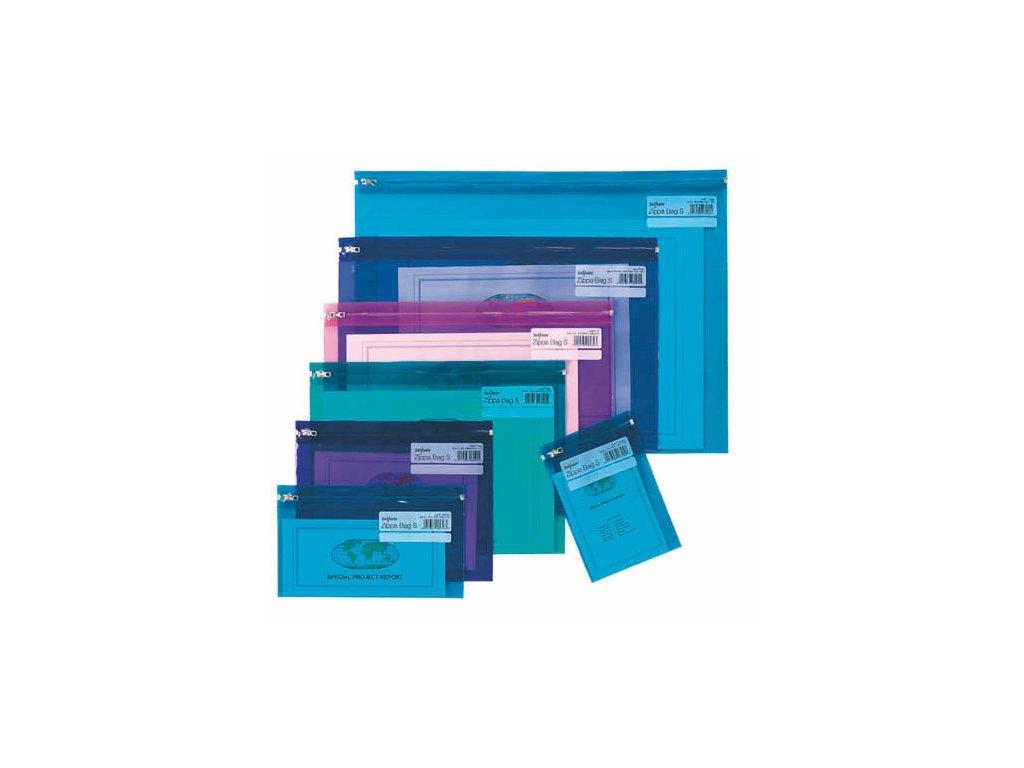 Spisové desky na zip Electra - A4 / barevný mix