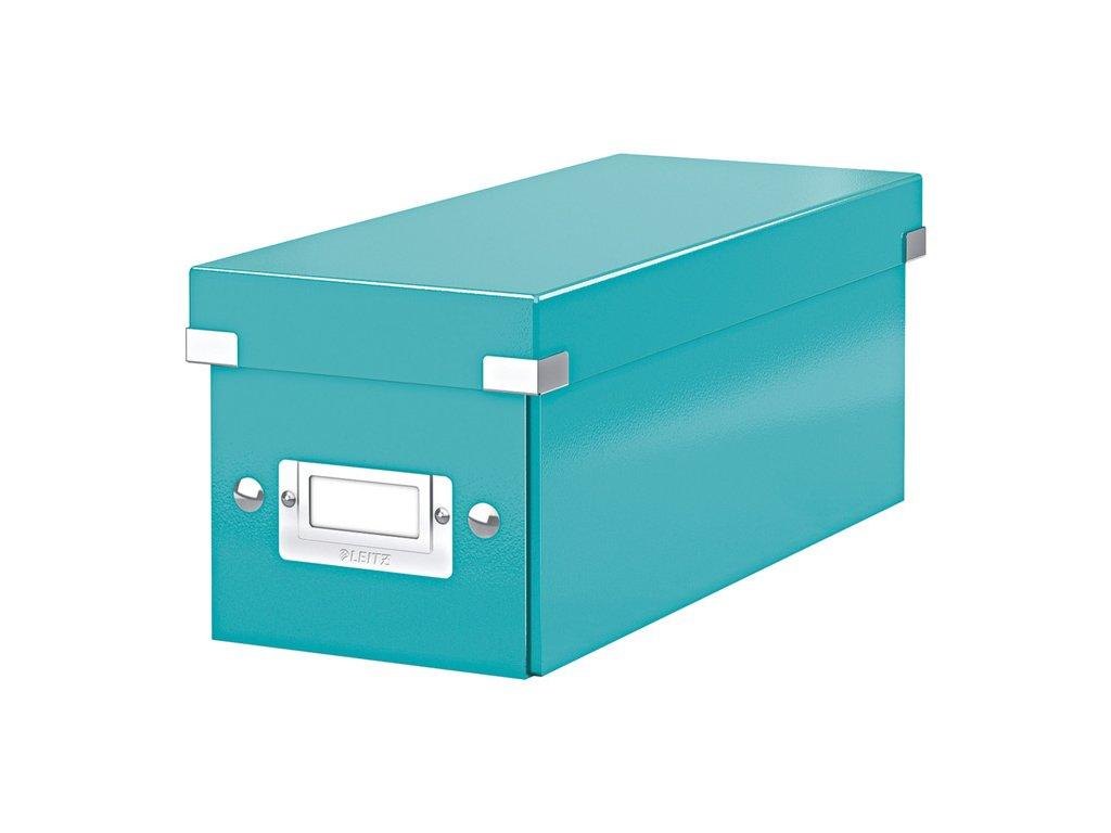 Krabice Leitz Click & Store - na CD / tyrkysová