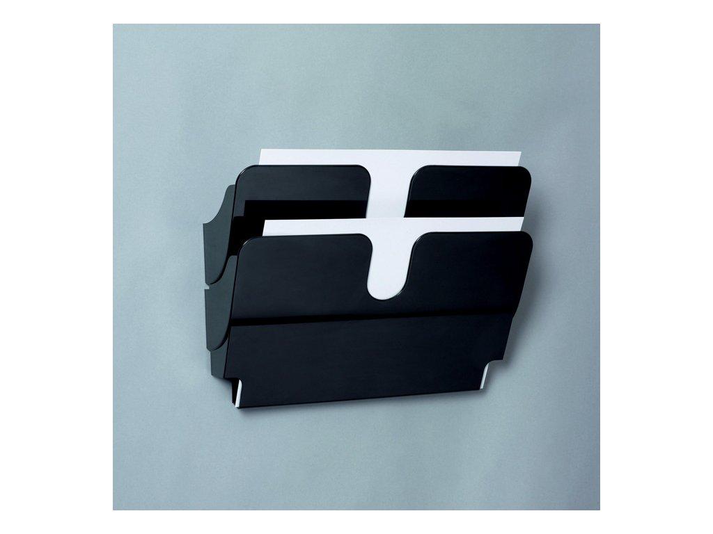 Držáky na prospekty Durable - Flexiplus 2 / A4 černý / na šířku