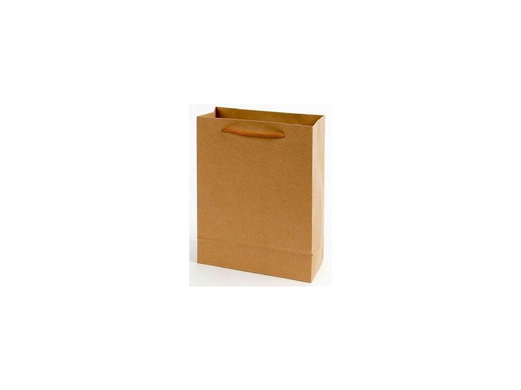 Tašky papírové EKO hnědé - velká / 240 x 80 x 330 mm