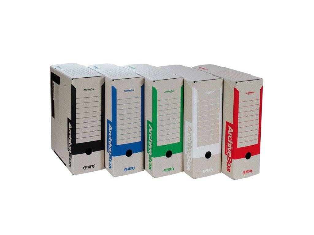 Box archivní A4 Emba - hřbet 11 cm / červená
