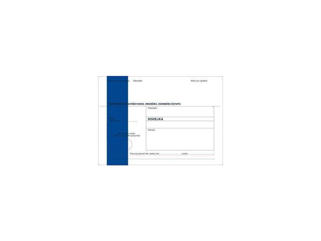 Obálky B6 s dodejkou samopropisovací - s modrým pruhem / 1000 ks