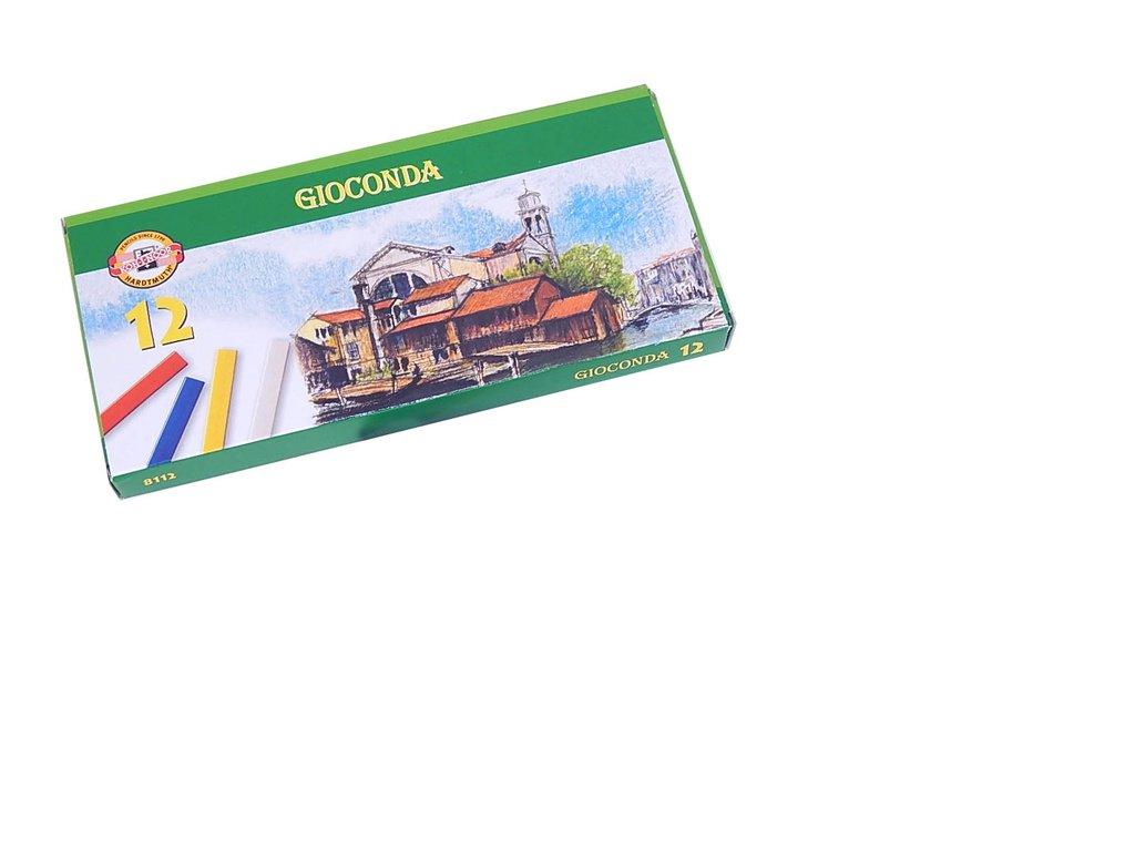 Křídy mastné Gioconda - 12 barev
