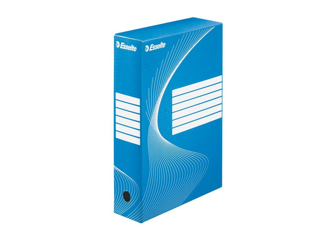 Box archivní A4 Esselte - hřbet 8 cm / modrá