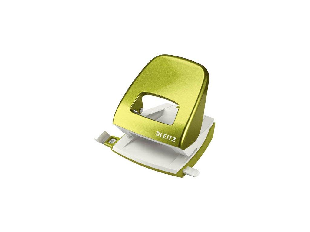 Kancelářský děrovač Leitz 5008 - metalická zelená