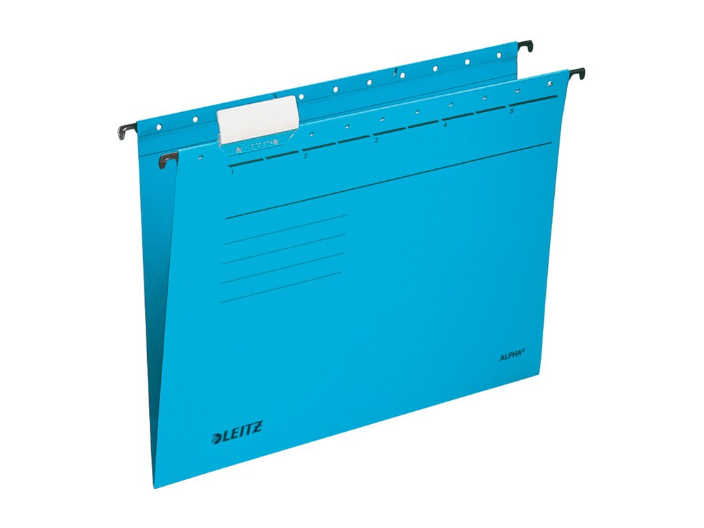 Závěsné desky Leitz Alpha - modrá
