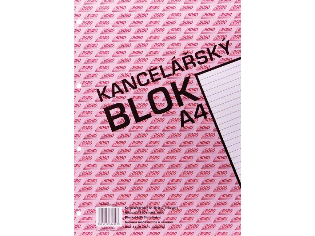 Blok kancelářský BOBO - A4 / linka