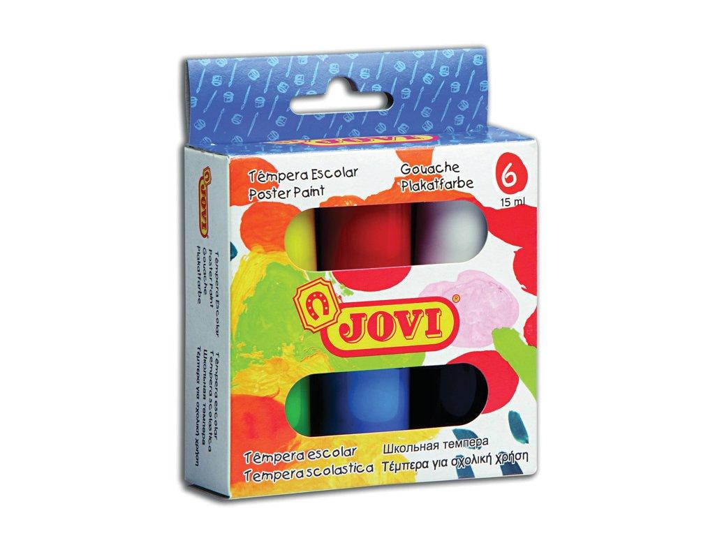 Temperové barvy JOVI Gvašové - 6 x 15 ml