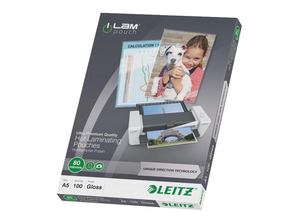 Laminovací pouzdra Leitz iLam - A5 80 mic / 100 ks