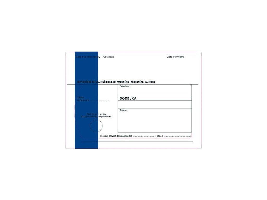 Obálky B6 s dodejkou, vytrhovací okénko - s modrým pruhem / 1000 ks