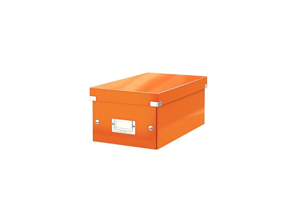 Krabice Leitz Click & Store - na DVD / oranžová