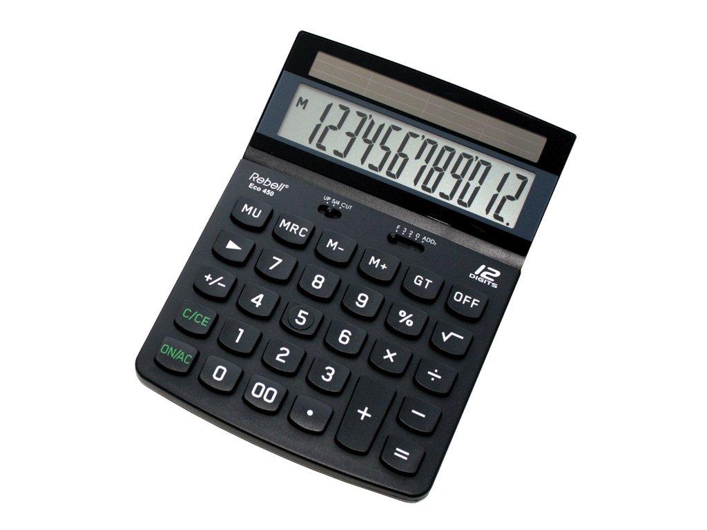 Ekologické kalkulačky Rebell - ECO450 / displej 12 míst