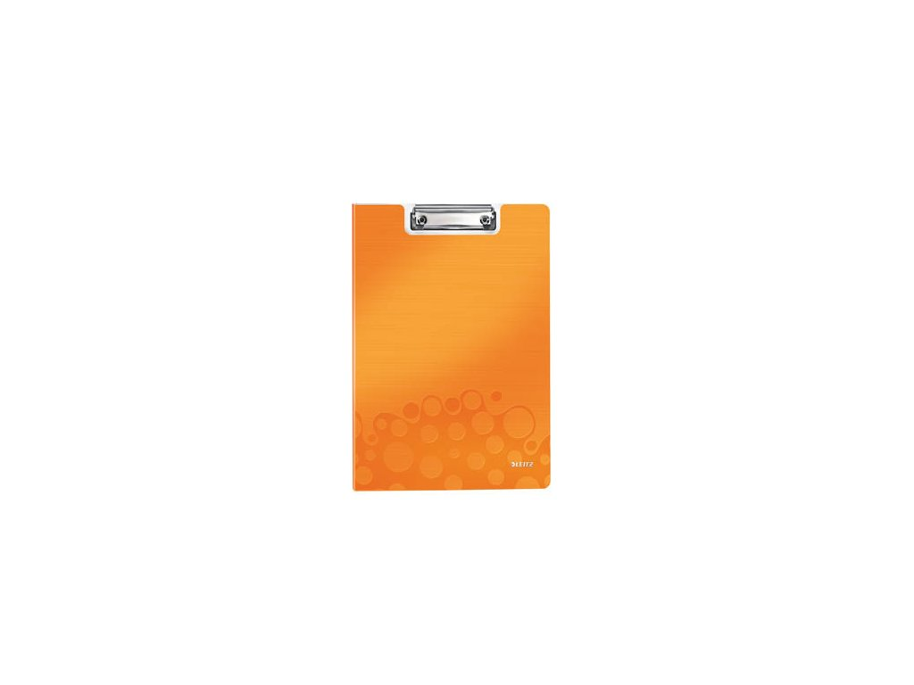 Dvojdeska A4 s klipem Leitz WOW - oranžová