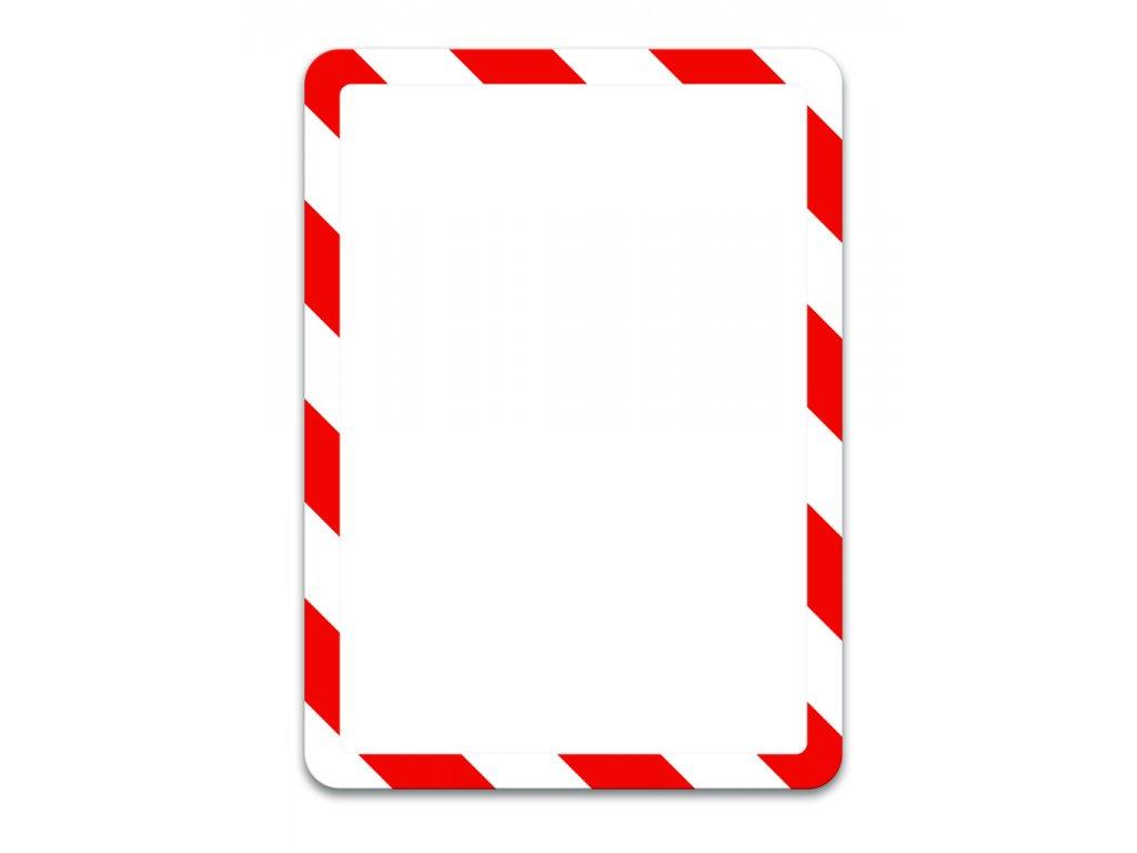 Kapsy Tarifold Magneto bezpečnostní - A4 / červeno-bílá / 2 ks / samolepicí