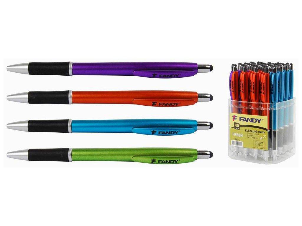 Kuličkové pero Fresh - barevný mix