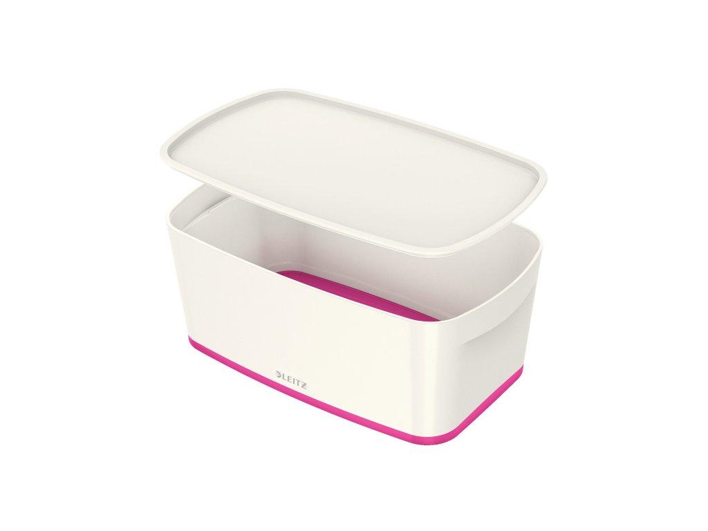 Organizační box Leitz MyBox - s víkem S / bílo - růžová
