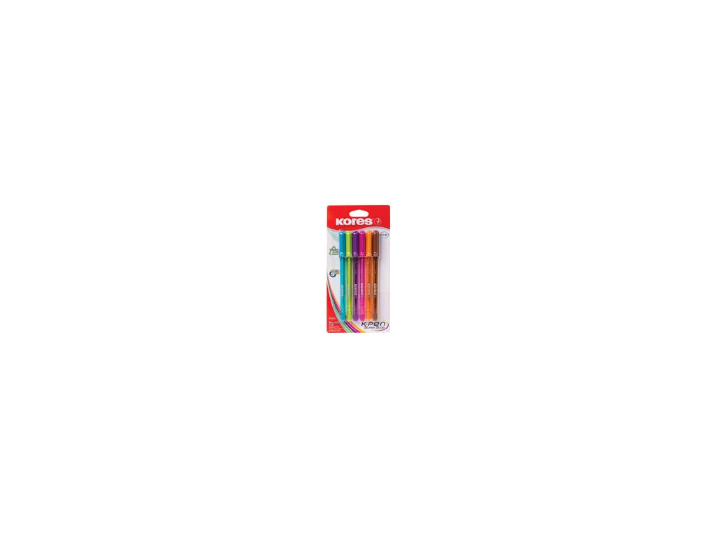 Kuličkové pero Kores K1-Pen - sada / 6 ks