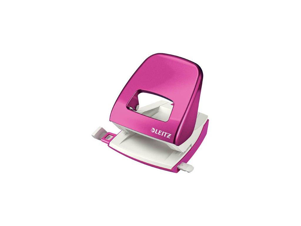 Kancelářský děrovač Leitz 5008 - metalická růžová