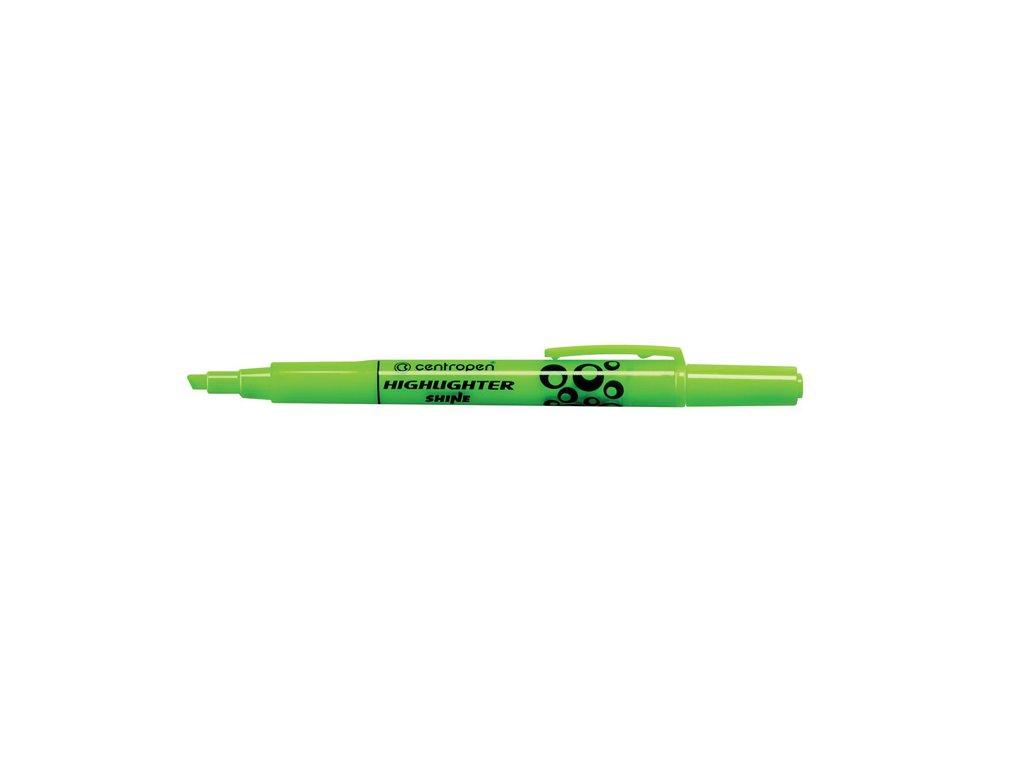 Zvýrazňovač  Centropen 8732 SHINE -  zelená