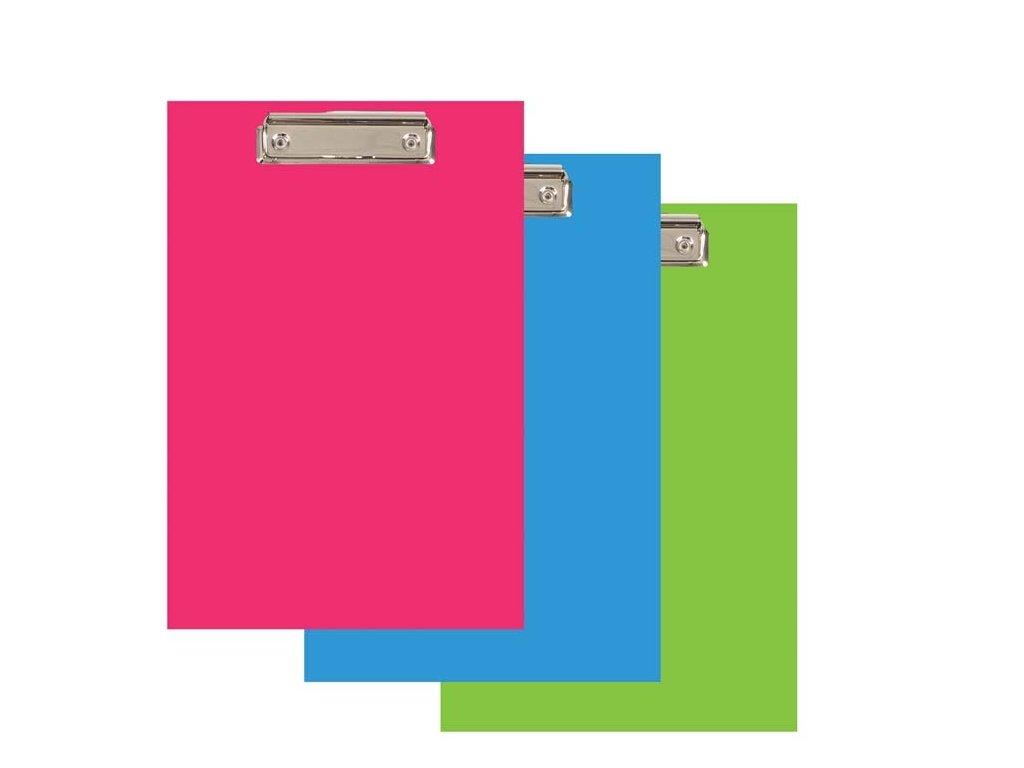 Podložka A4 s klipem PVC Office - růžová pastelová