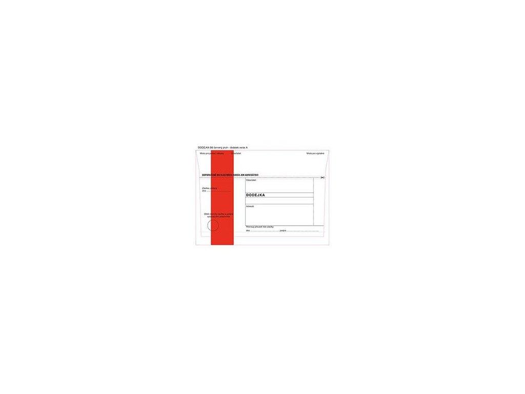 Obálky B6 s dodejkou - s červeným pruhem / 1000 ks