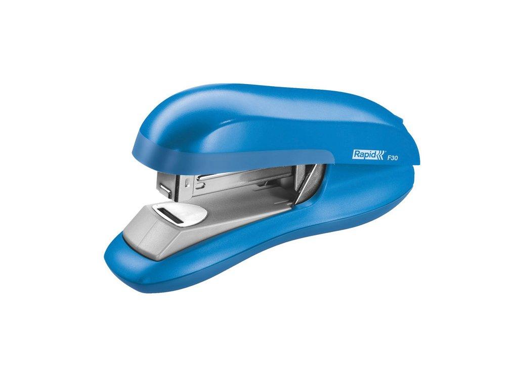 Kancelářský sešívač Rapid F30 s plochým sešíváním - světle modrá