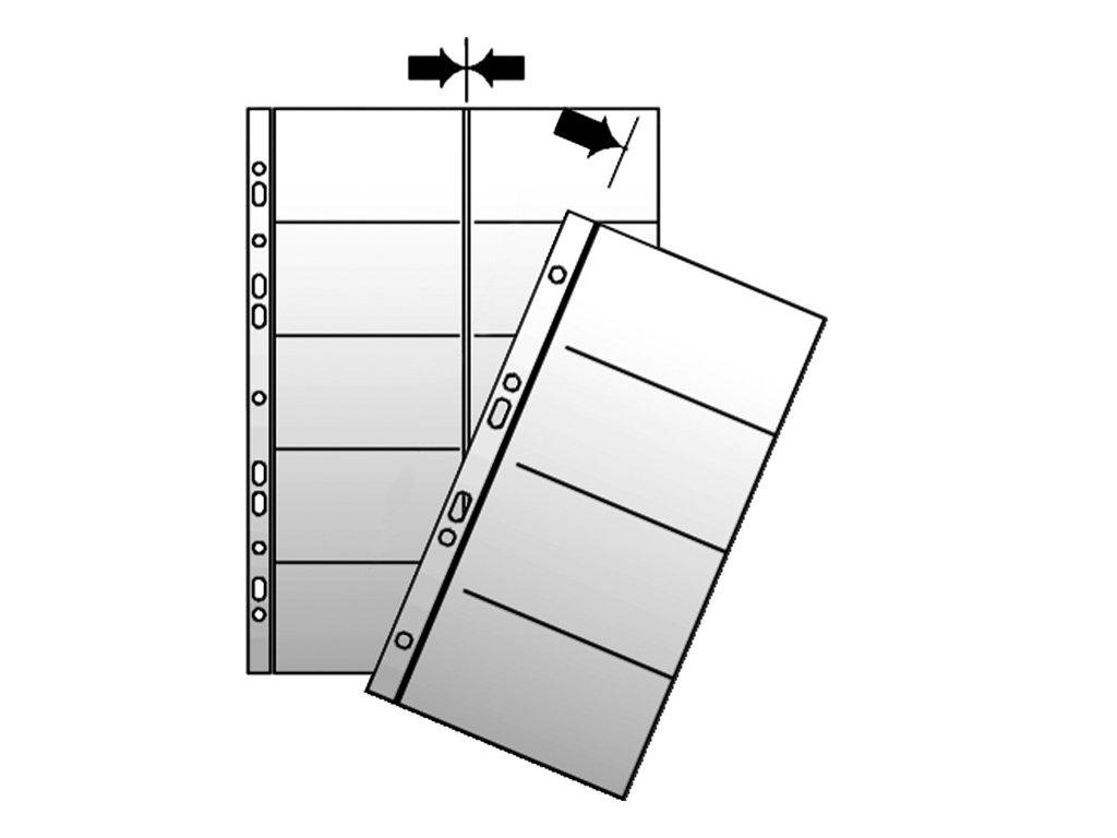 Náhradní obal do kroužkových vizitkářů - náhradní kapsy A4 / 10 ks