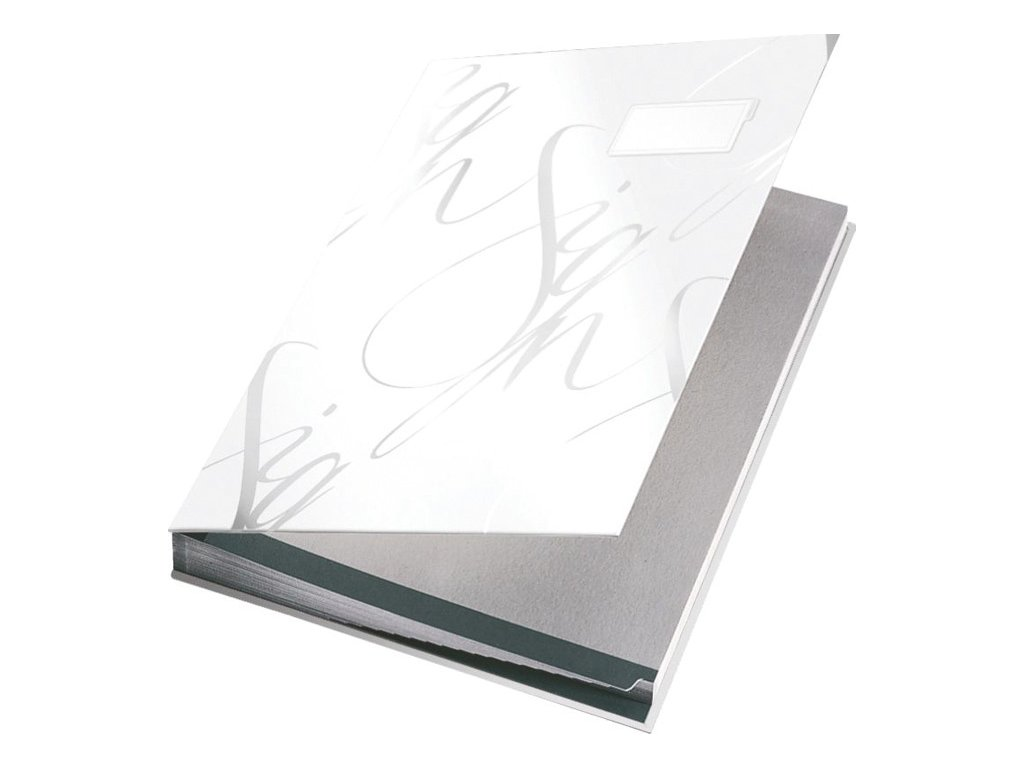 Designová podpisová kniha Leitz - bílá