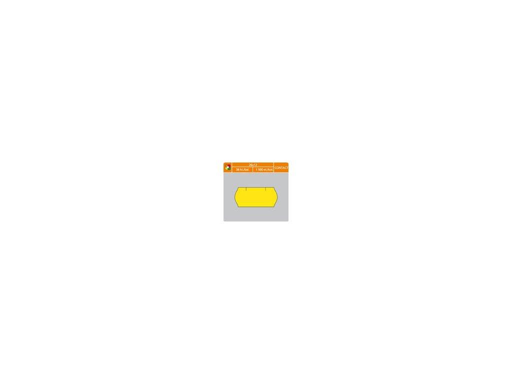 Etikety do etiketovacích kleští - 26 x 12 mm Contact / žlutá