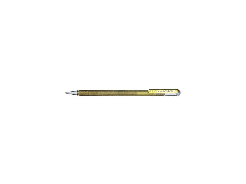 Gelové pero Pentel K 110 metalické - zlatá