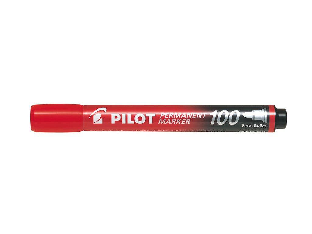 Popisovač Pilot 100 permanent - červená