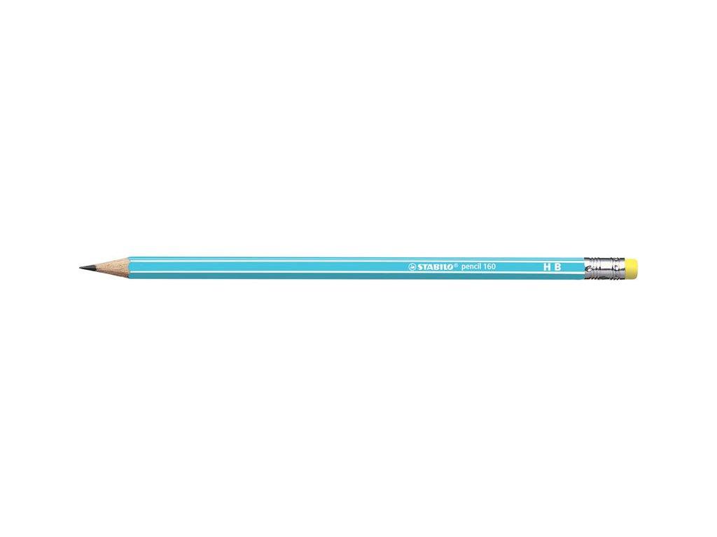 Tužka STABILO 160 s pryží - HB / modrá