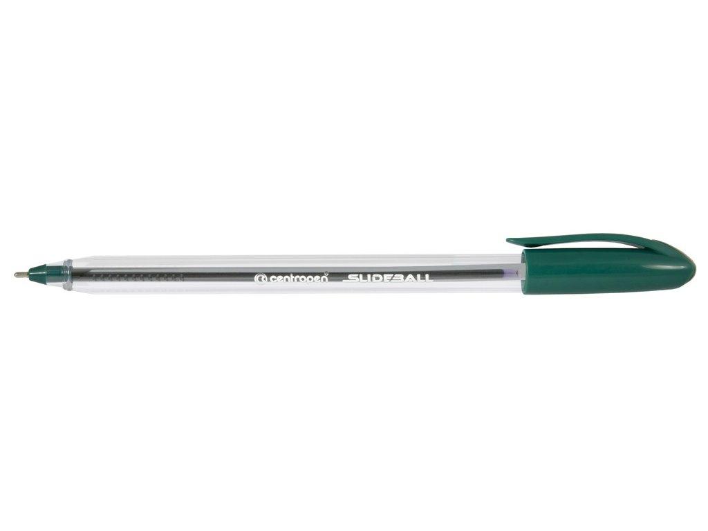 Kuličkové pero Centropen Slide ball 2215 - zelená