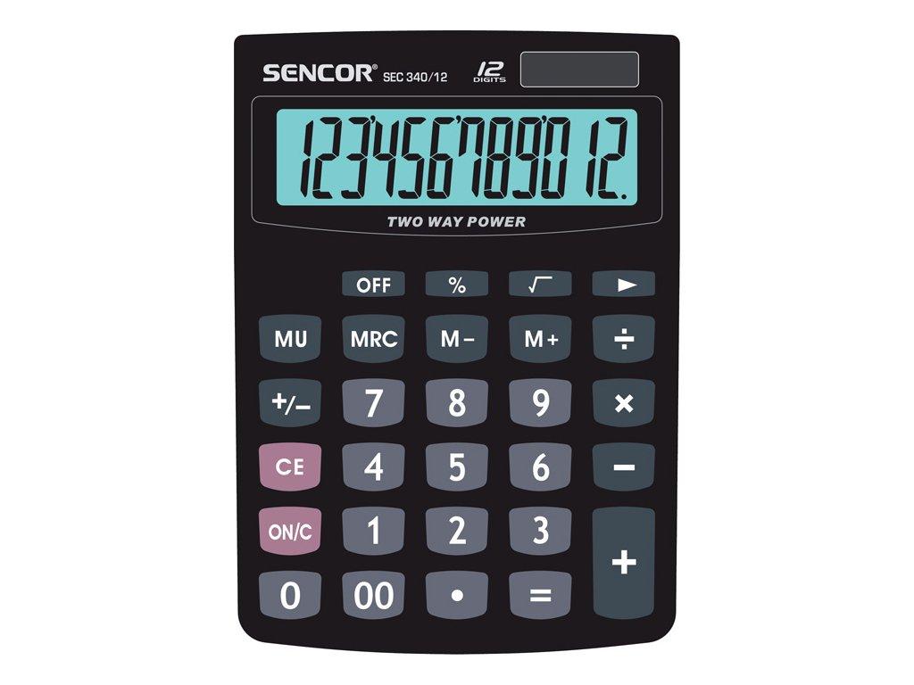 Kalkulačka Sencor - SEC 340/12 - displej 12 míst