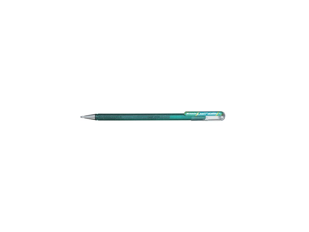 Gelové pero Pentel K 110 metalické dvoubarevné - zelená / metalická modrá