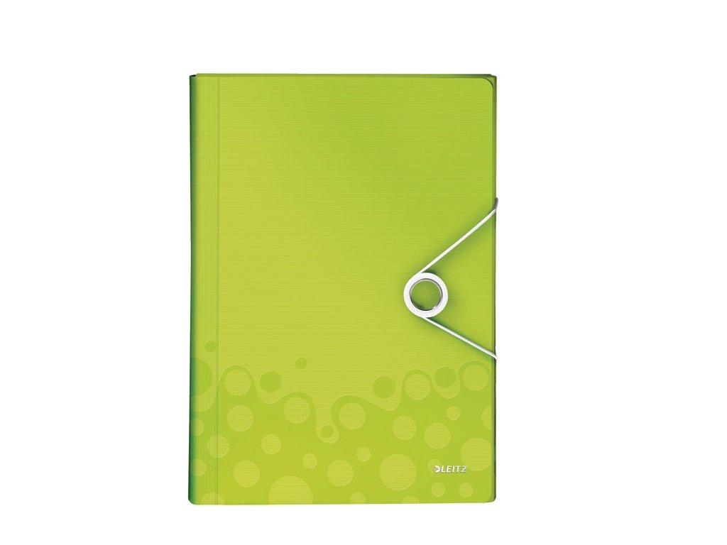 Spisovka s přihrádkami Leitz WOW - zelená