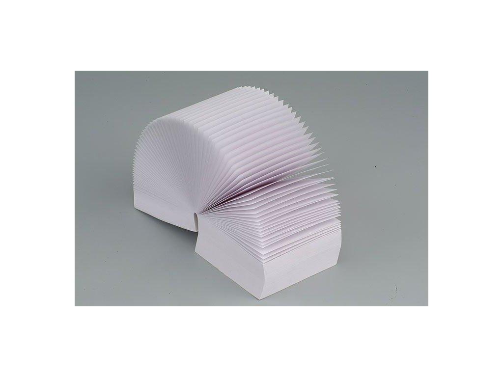 Záznamní kostky bílé - 9 cm x 9 cm x 4,5 cm / lepená vazba