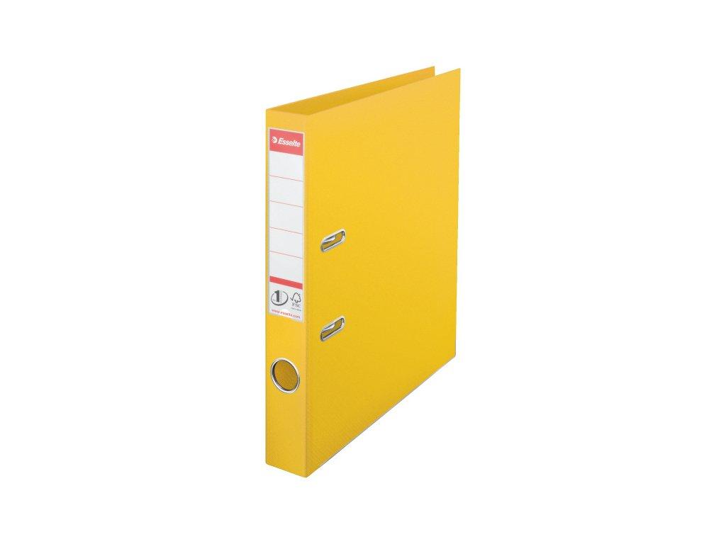 Pořadač A4 pákový celoplastový - hřbet 5 cm / žlutá