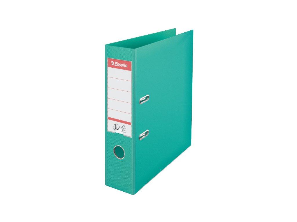 Pořadač A4 pákový celoplastový - hřbet 7,5 cm / světle zelená